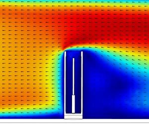 Simulation reacteur protecteur FL 45° 500cP